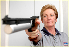 Gladstone Air Pistol shooter Julie Dunks is fired up as she prepares to represent Australia at the Oceania Games.