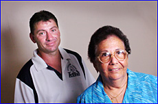 Tannum Tennis Association vice-president Shane Finlay and Therese Munckton