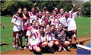 The Boambee under-16 girls team