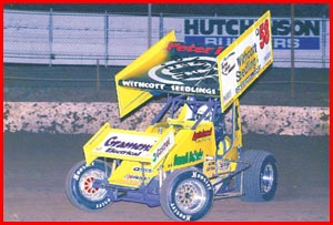 Peter Lack tests his new sprintcar at Charlton Speedway recently. Picture: SUPPLIED