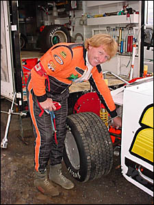 Herne in his ?Hit Man? mode, preparing for a speedway meeting early this year. He hopes to return when the Lismore season start