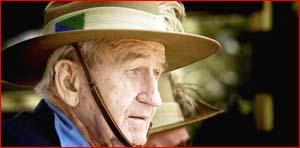 World War II Light Horseman Bill Barnes attended yesterday?s 65th anniversary service. Picture: KEVIN FARMER