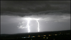 LIGHTNING CRASHES: Bolts strike beyond Rockhampton Airport