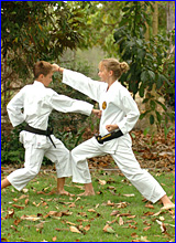 Benaraby Shotokan Karate brother and sister duo Samuel (left) and Shannon O?Brien starred at the Australian Championships.