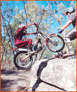 Chris Cox is a master at the exacting art of moto-trials. Picture: SUPPLIED