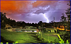 Observer photographer Craig Chapman took this photo over the Western Suburbs pool of the storm on Monday.