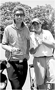 Robbie Bain and Dylan Stollery are two of the young guns who are lining up in the North Coast Open golf tournament.