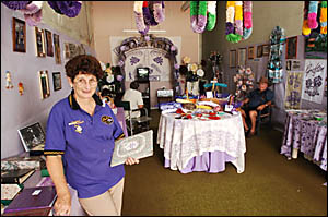 JACA TRADITION: A flashback to another era is the Jaca Shop under the direction of festival vice-president June Allen.