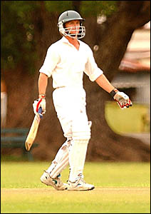 THE MAESTRO: Leading Westlawn batsman Daniel Amos has the responsibility of beginning his team?s run chase against Brothers at