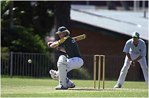 STEPPING UP:Casino cricketers Sam Irvine