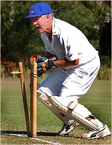 QUICK HANDS: Harwood wicket keeper Tim McMahon