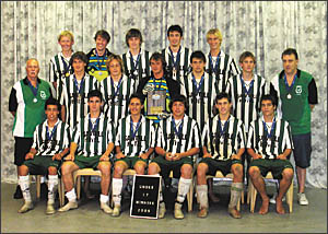 Members of the all-conquering Sawtell 17 years boys football team who can now call themselves the best in the State after down