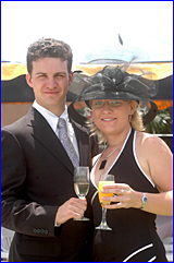 Brendan Corbett and Sarah Morison looked the part at Ferguson Park racecourse for Melbourne Cup day yesterday.
