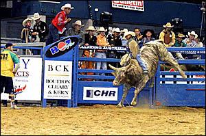BIG BUCKS: Elvis Urbina shows the determination that has made him a star in his sport.