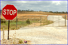 The Aldoga Aluminium Smelter site gates were locked yesterday as the plant was put on hold until 2006.