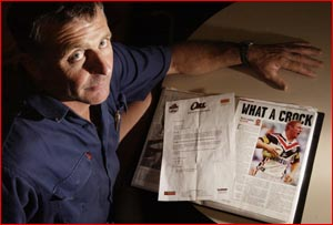 David Mills looks over his evidence as he prepares to front the disciplinary committee. Picture: NEVILLE MADSEN