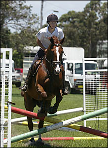 POTTSVILLE?S Jack Glasby and horse Murdock 2 warm up for today?s riding events at the Murwillumbah Show. Glasby was the show?s