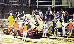 Speedway driver Sean Rachow, from Casino, sits it out.