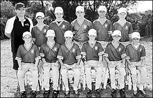 The North Coast boys PSSA softball team, from left, back, Lorne Smith (manager), Zac Davison, Myles Wevener, Fletcher Wyver, Be