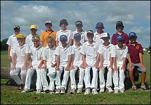 Wyrallah Road team members, from left, rear: Jake Pruess, Jordan Nind, Mitchell Nicholson, Jack Pinchin, Nick Organ, Jordan Smi
