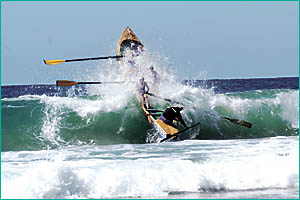 Spectacular surf boat action will be on the cards when boat crews and other craft competuitors converge on Park Beach next week