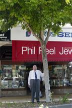 TREE WARS: Rockhampton business owner Phil Peel
