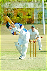 Brothers A grade batsman Scott Keirsnowski hears the death rattle after compiling a handy knock of 30 against BITS.