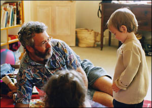 BREE WILSON?S prize-winning photo of her dad Philip playing with his nephews. The snap took her to first place in the 2005 Than