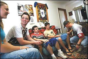 Stephanie Greacen, 18, Glen Cassidy, 18, Scott Hennessy, 18, Tom Melrose, 17, and Jay Ellington, 17.