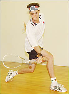 QUALIFIER: A file photo of Cameron Pilley competing in the Yamba Squash Open.