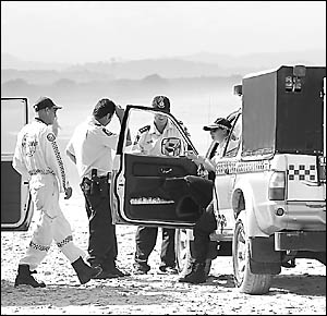 BEACH EMERGENCY: A file picture at Tyagarah beach as police and emergency services search following reports of the plane crash.