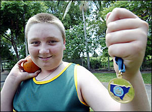 CHAMPION athlete ... Murwillumbah East?s Harley Chapman was the only person from the Tweed who won gold at the State Primary Sc