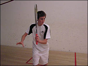 Ryan Cuskelly, 19, is off to the Australian Institute of Sport on a squash scholarship.