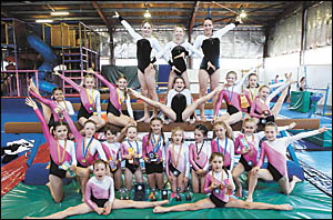 Coffs Harbour gymnasts who excelled at various competitions during the year. Photo: CHRISRIX05113079A