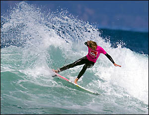 Coffs Harbour?s Billy Kean surfing his way into the quarter-finals of the Quiksilver Australian grommet titles at Roaring Beach