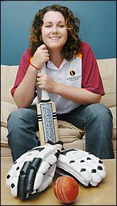 Lennox Head?s Melissa Lewis, preparing to lead the Queenslanders in next week?s Cricket Australia Cup.