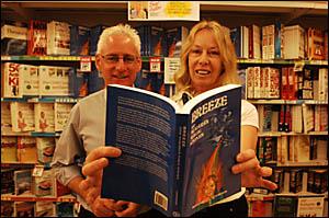 GOOD WORD: Executive officer of Grafton Base Hospital John Wickham with author Margaret Hodgson.