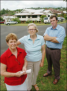 ANTI-CLINIC: Avondale Avenue residents concerned about the proposed medical centre in their street (from left) Lesley Menger, H