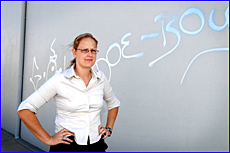 Plain clothes Constable Stephanie Witt fears an increase in graffiti during the holidays.