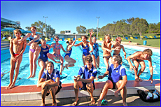 Gladstone Gladiators relax at the Gladstone Aquatic Centre before heading to the state championships this weekend.