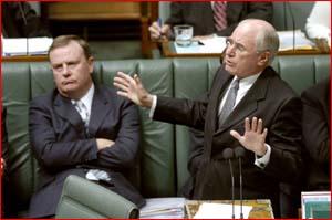 Prime Minister John Howard holds key. Pic SUPPLIED