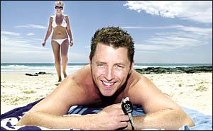 CLOSE WATCH: Brad Blewett from Mermaid Beach on the Gold Coast, formerly Alstonville, keeps a keen eye on his keys as partne