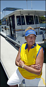 BOYD?S Bay Houseboats owner Michelle Day.
