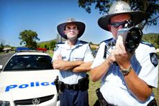 Constable Sam Baxter (left) and Sergeant Ewan Findlater.