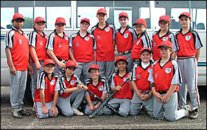 FNC Under-14s: Back row, from left, Norton Bolt, Andrew Kelly, Gerard Habchi, Lachlan Gosper, Mitchell Dowse, Adam McNamara, Be
