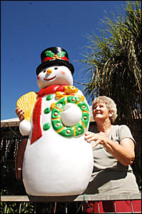 Lola Watkins is reunited with her snowman this week.