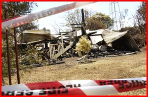 It was not a happy Christmas for one family in Clifton with fire destroying their home and new car.