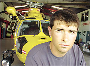 DEBT OF GRATITUDE: Eddy Maher says he owes his life to the Westpac Helicopter Rescue Service. Eddy was transported from Maclea