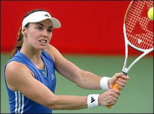 Martina Hingis was not always in control.