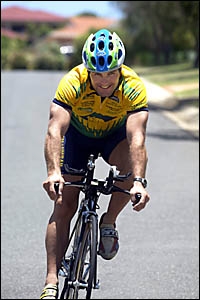 COMING at you: Murwillumbah Cycle Club rider Dave Costanzo is known for his aggressive approach to racing ... and it?s not abou